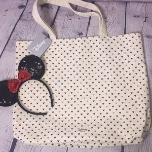 Disney's Mickey Mouse Canvas Tote with Headband
